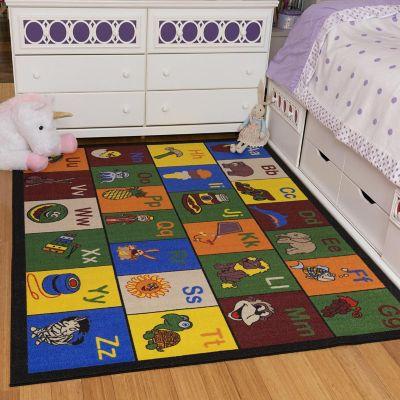Tapete Educacional Alfabeto 221x160 cm Multicolor