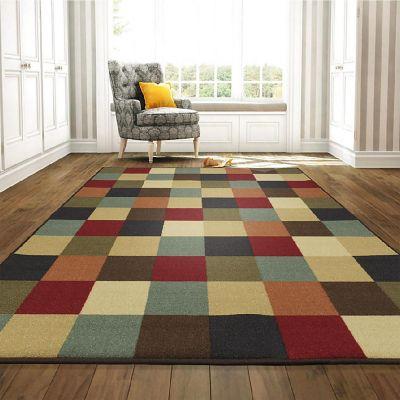 Tapete Diseño Checkered 152x99 cm Multicolor