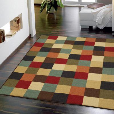 Tapete Diseño Checkered 198x152 cm Multicolor