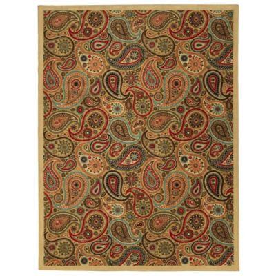 Tapete Diseño Paisley 198x152 cm Beige