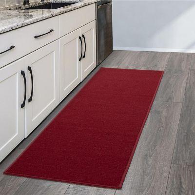 Tapete Diseño Sólido 149x50 cm Rojo