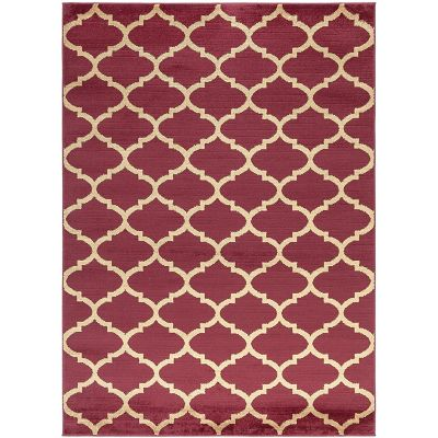 Tapete Diseño Trellis 213x160 cm Rojo