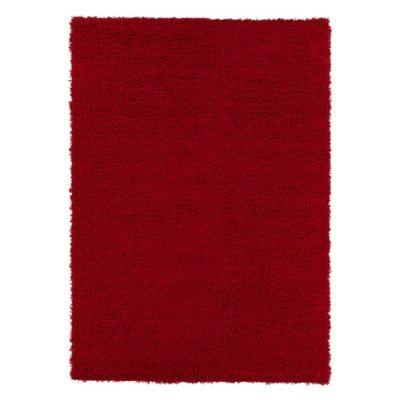 Tapete Diseño Sólido 139x99 cm Rojo