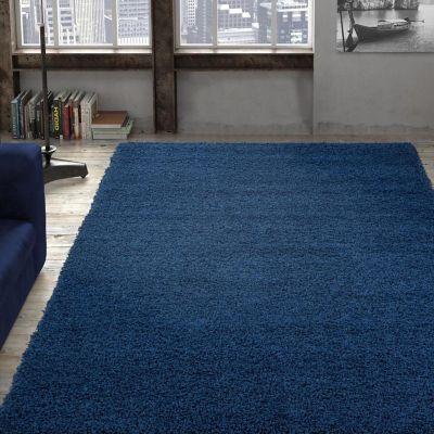 Tapete Diseño Sólido 213x160 cm Azul Marino