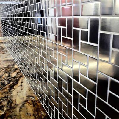 Malla de Acero Inoxidable 304 - 30.2 X 30. cm Tramado de Cuadrados y Rectangulos