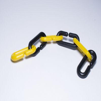 Paq x 50 Mts Cadena Plástica Eslabonada Negra-Amarilla
