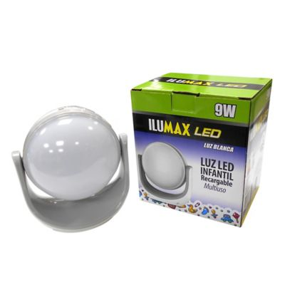 Linterna Led Recargable 9w Gris