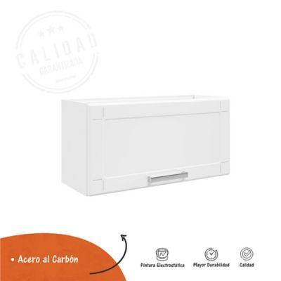 Mueble Auxiliar Para Cocina Basculante Multipla 70 cm Ancho x 28.3 cm Fondo x 35 cm Alto Blanco