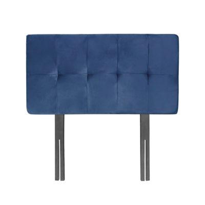 Cabecero Econo Cuadros 60 Pata 120 Microfibra Azul