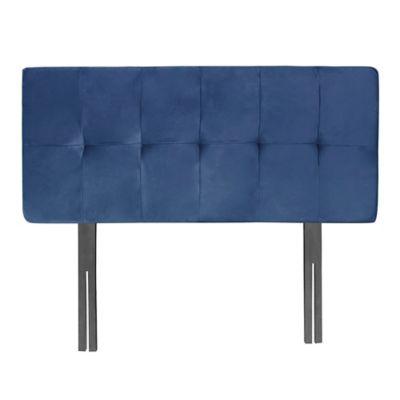 Cabecero Econo Cuadros 60 Pata 140 Microfibra Azul