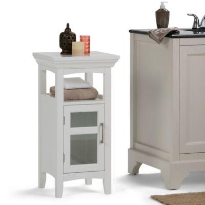 Mueble Auxiliar de Piso para Baño 38cm Ancho x 76cm Alto x 35cm Profundidad  Blanco