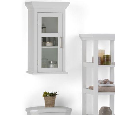 Mueble de Pared para Baño 38cm Ancho x 25.4cm Fondo x 68.3 cm Alto Blanco