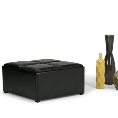 Otomano Almacenaje 89x89x45cm Negro
