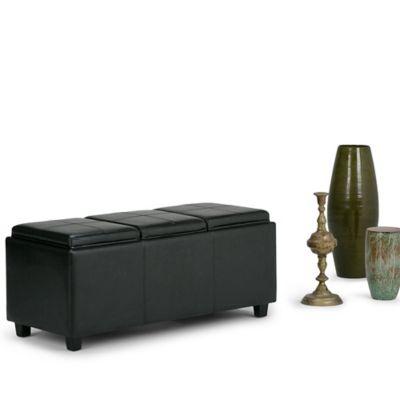 Otomano Almacenaje 43x106x43cm Negro