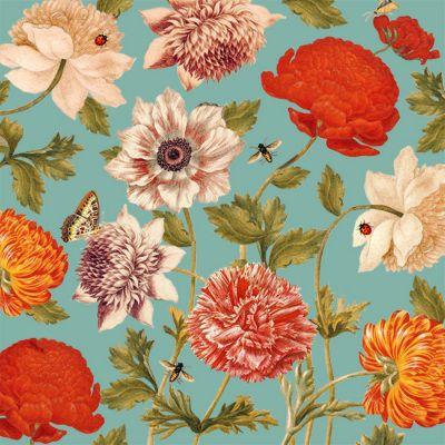 Servilleta 33x33cm 20und Flora Botánica Turkis