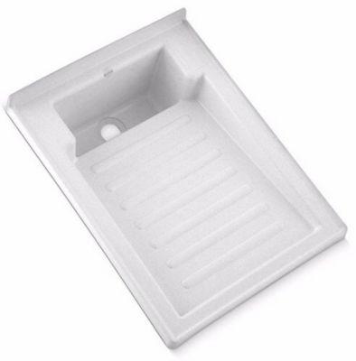 Lavadero Plastico 60cm x 45cm Alta Resistencia Blanco