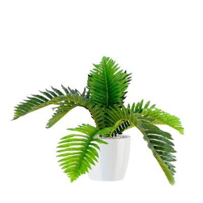 Planta Artificial Con Matera Plástica 55 cm Palma