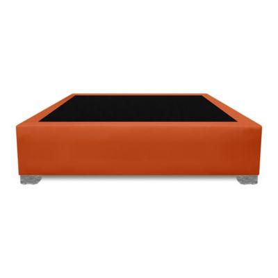 Base Cama Premium Top Sencilla 90x190cm Ecocuero Negro