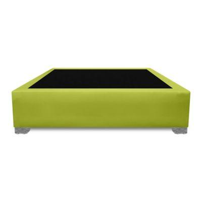 Base Cama Premium Top Semidoble 120x190cm Ecocuero Verde