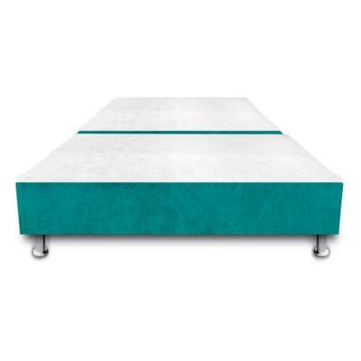 Base Cama Dividida con Colchoneta Incorporada Semidoble 120x190cm Ecocuero Azul
