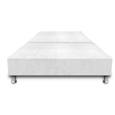 Base Cama Dividida con Colchoneta Incorporada Semidoble 120x190cm Ecocuero Blanco