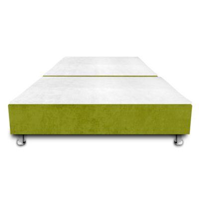 Base Cama Dividida con Colchoneta Incorporada Semidoble 120x190cm Ecocuero Verde