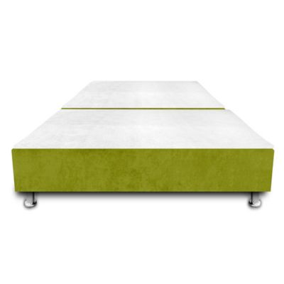 Base Cama Dividida con Colchoneta Incorporada Semidoble 120x190cm Microfibra Verde