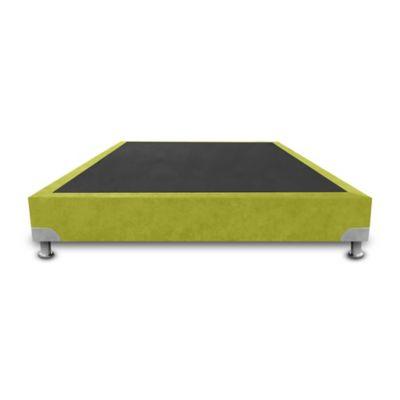 Base Cama de Lujo Boston Sencilla 90x190cm Microfibra Verde