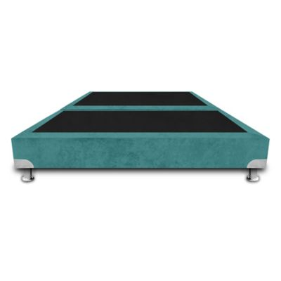 Base Cama de Lujo Boston Dividida King 200x200cm Ecocuero Azul