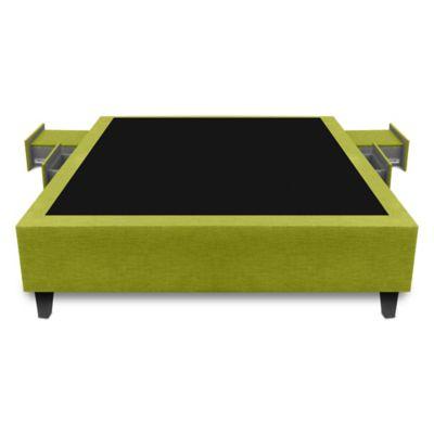 Base Cama Multifuncional Sencilla 90x190cm Ecocuero Verde