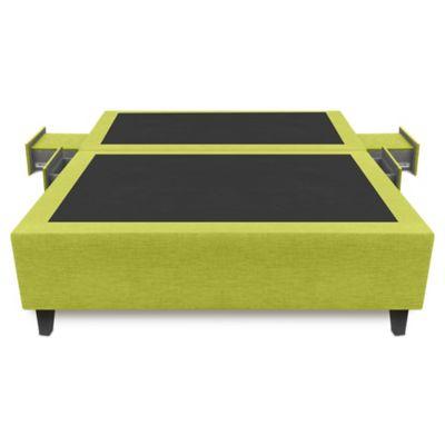 Base Cama Multifuncional Dividida Semidoble 120x190cm Ecocuero Verde