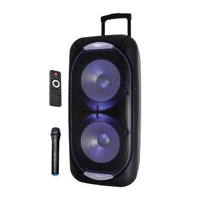 Parlante Bluetooth de 8 Pulgadas Portátil y Recargable Negro