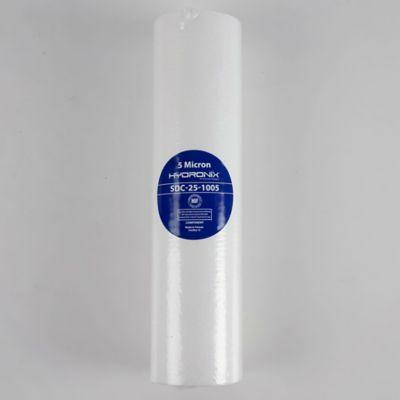 Cartucho Polipropileno Aglomerado 2,5 Pulg x  10 Pulg x  5 Micras