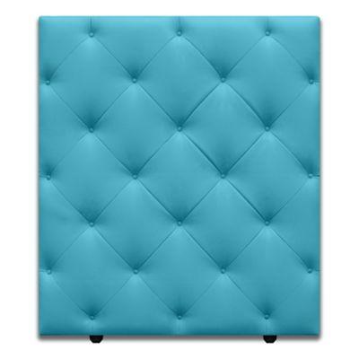Cabecero para Cama Sencilla Diamond de Piso 90x120cm Ecocuero Azul