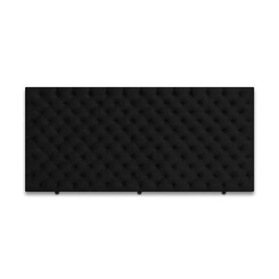 Cabecero para Cama Sencilla Fantasy de Piso 90x120cm Microfibra Negro