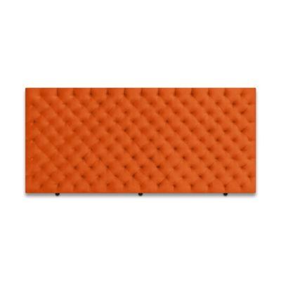 Cabecero para Cama Sencilla Fantasy de Piso 90x120cm Microfibra Naranja