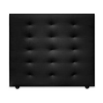 Cabecero para Cama Sencilla Four de Piso 90x120cm Ecocuero Negro