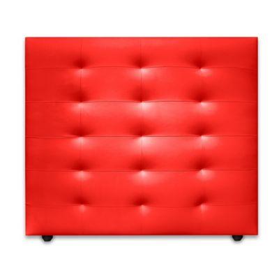 Cabecero para Cama Sencilla Four de Piso 90x120cm Microfibra Rojo