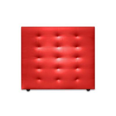 Cabecero para Cama Sencilla Horse de Piso 90x120cm Ecocuero Rojo
