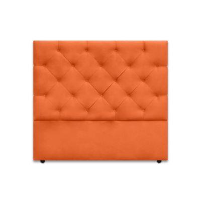 Cabecero para Cama Sencilla London de Piso 90x120cm Ecocuero Naranja