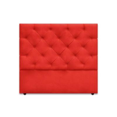 Cabecero para Cama Sencilla London de Piso 90x120cm Ecocuero Rojo