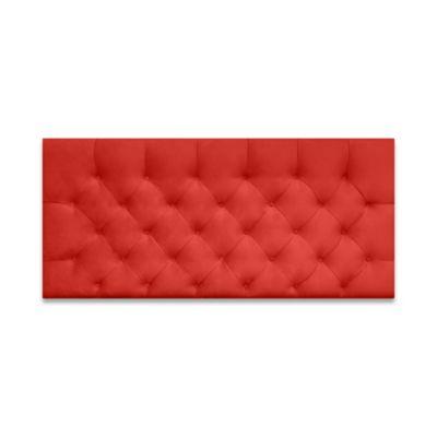 Cabecero para Cama Sencilla Fantasy Flotante 90x60cm Microfibra Rojo