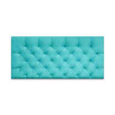 Cabecero para Cama Sencilla Fantasy Flotante 90x60cm Microfibra Azul