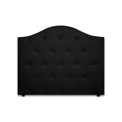 Cabecero para Cama Sencilla Round de Piso 90x120cm Ecocuero Negro