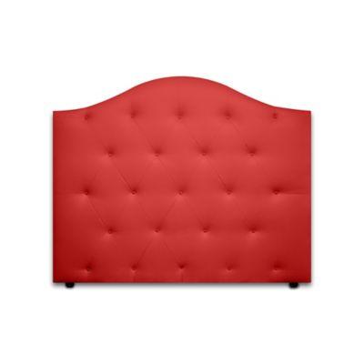 Cabecero para Cama Sencilla Round de Piso 90x120cm Ecocuero Rojo