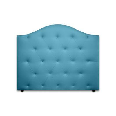 Cabecero para Cama Sencilla Round de Piso 90x120cm Ecocuero Azul