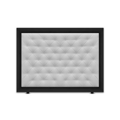 Cabecero para Cama Sencilla Landring de Piso 90x120cm Ecocuero Negro/Blanco