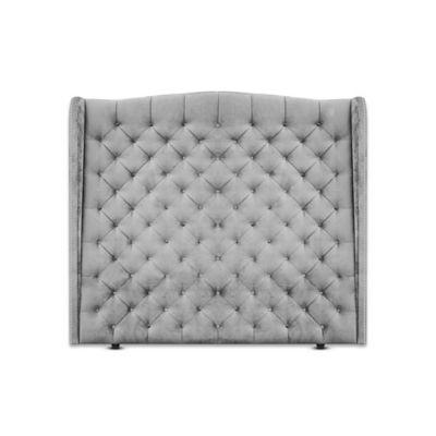 Cabecero para Cama Sencilla Luxury de Piso 100x150cm Tela Piel de Durazno Plateado