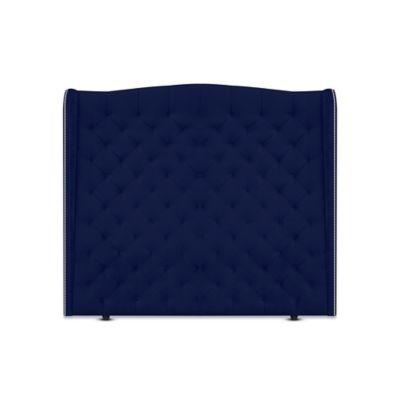 Cabecero para Cama Sencilla Luxury de Piso 100x150cm Tela Piel de Durazno Azul Rey