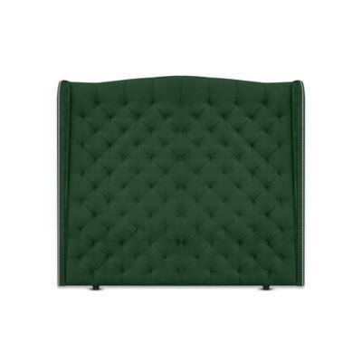 Cabecero para Cama Sencilla Luxury de Piso 100x150cm Tela Piel de Durazno Verde